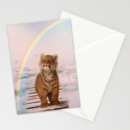 A tiger on the Rainbow Bridge Stationery Cards