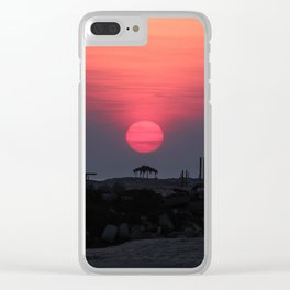 Cloudy sunrise at the Miramar beach. Clear iPhone Case