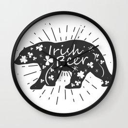 Irish Beer Drinking Funny St Patricks Day Wall Clock
