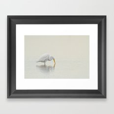 Egret Finds Himself Framed Art Print