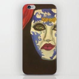 Theater mask iPhone Skin