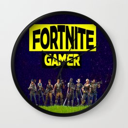 gamer design for online gamers Wall Clock