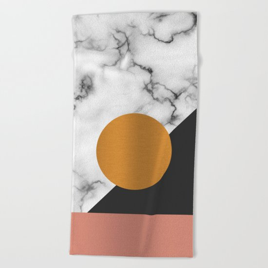Marble & metals Beach Towel