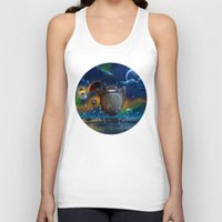 studio ghibli Tank Tops featuring Studio Ghibli: My Neighbour Totoros by Laurence Andrew Page Illustrator