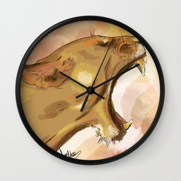 Tiger's howling Wall Clock