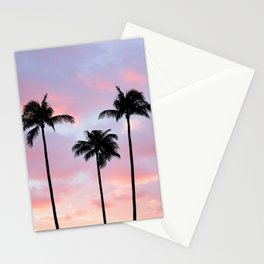 Palm Trees Sunset Photography Stationery Cards