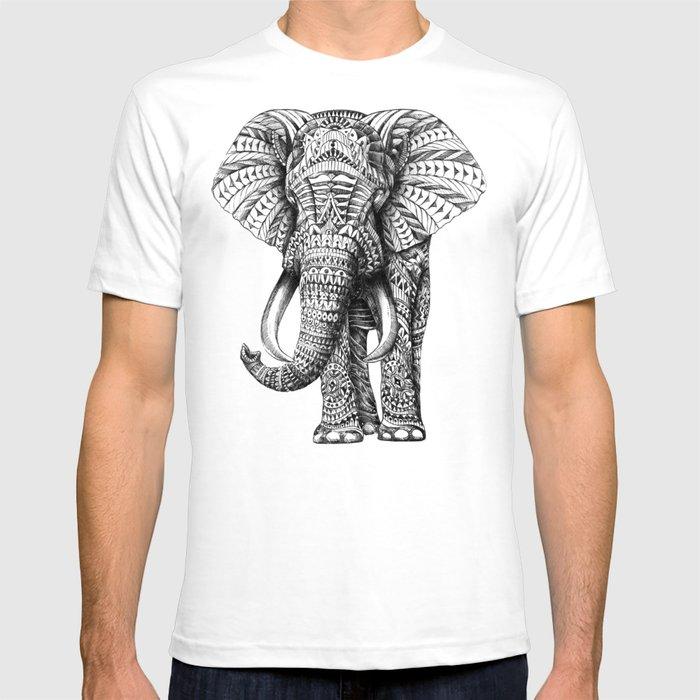 Ornate elephant t shirt by bioworkz society6 for Elephant t shirt women s