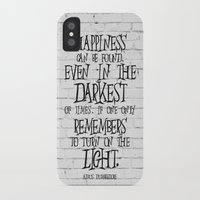 dumbledore iPhone & iPod Cases featuring Albus Dumbledore Quote Inspirational by Go Art