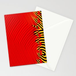 R3D Ye!!oW B!ack Stationery Cards
