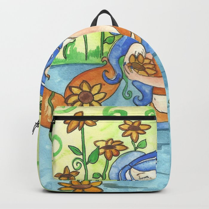 Sunflower Mermaid Backpack