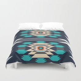 Double ethnic decor Duvet Cover