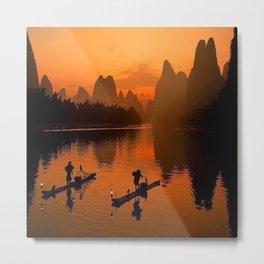 Li River in Guilin China Metal Print