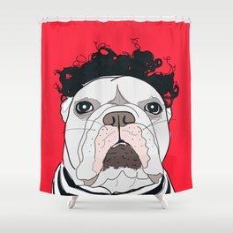 Venice Bulldog Shower Curtain