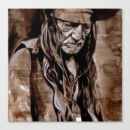 Sepia Willie Canvas Print