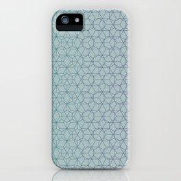 Tessellation - Culture Clash - Polytone Teal / Indigo iPhone Case