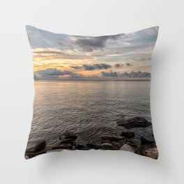 Sunset over the Ocean 7-21-18 Throw Pillow