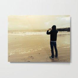 iPhone Photoshooting on the coast of Ireland Metal Print