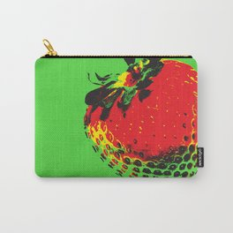 Strawberry Green - Posterized Carry-All Pouch