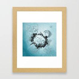 Cute dolphin Framed Art Print