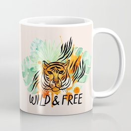 Wild and Free Tiger Coffee Mug