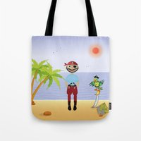 pirate Tote Bags featuring Pirate by MyimagesArt