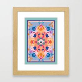 Eye Rug Framed Art Print
