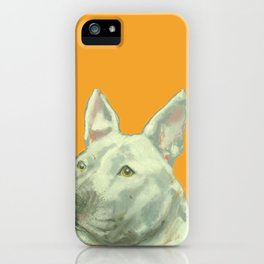 Pittbull printed from an original painting by Jiri Bures iPhone Case