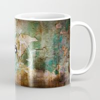 grunge Mugs featuring grunge by wet yeti