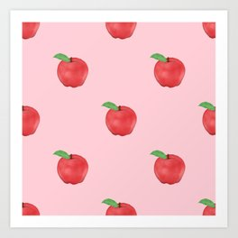 Pretty Pink Apples Fruits Summer Design Art Print