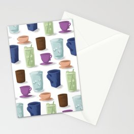 Drinks in Cups Stationery Cards