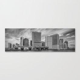 LOWER MANHATTAN   Monochrome Panorama Canvas Print