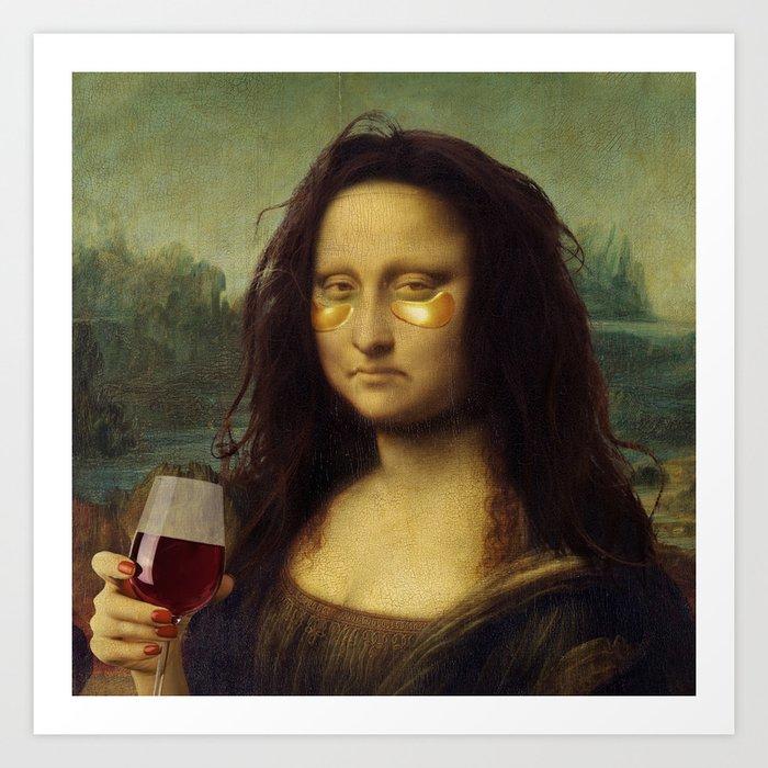 Drunk Lisa Kunstdrucke