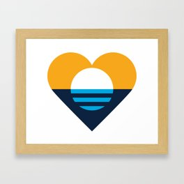 Heart of Milwaukee Framed Art Print