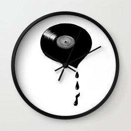 Melting Vinyl Wall Clock