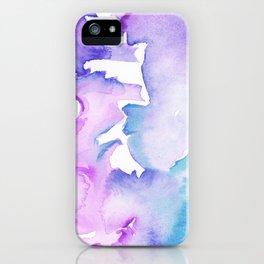 blue wash iPhone Case