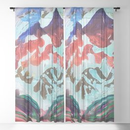 For purple mountain majesties Sheer Curtain