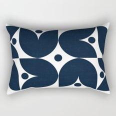 the tulips -navy Rectangular Pillow