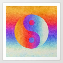 Yin and Yang II Art Print