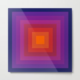 Freaky Deaky - abstract retro 70s style throwback outtasight art decor 1970s vibes Metal Print