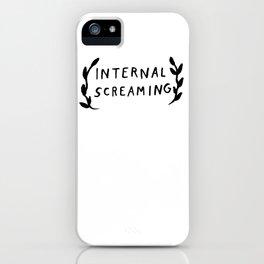 Internal screaming iPhone Case