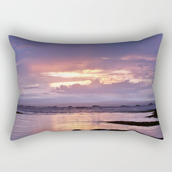 Misty Sunset Rectangular Pillow