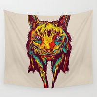 rare Wall Tapestries featuring BE RARE* - Iberic Lince by Vasco Vicente