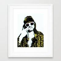 kurt rahn Framed Art Prints featuring Kurt  by ROCK POSTERS
