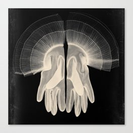 X-Ray of Vintage Gloves (square) Canvas Print