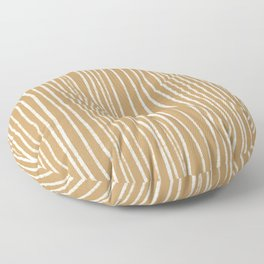 earth tone chalk lines 3/4 in mustard seed Floor Pillow