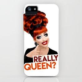 """""""Really, Queen?"""" Bianca Del Rio, RuPaul's Drag Race Queen iPhone Case"""