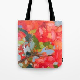 Vermillion Blooms Tote Bag