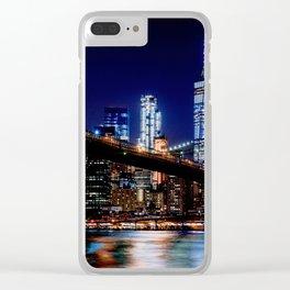 new york skyline manhattan Clear iPhone Case