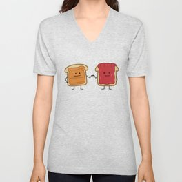 Peanut Butter and Jelly Fist Bump Unisex V-Neck