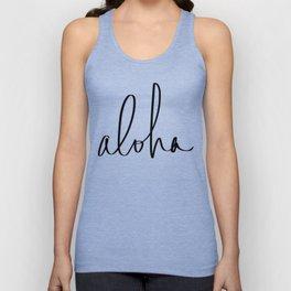 Aloha Hawaii Typography Unisex Tank Top